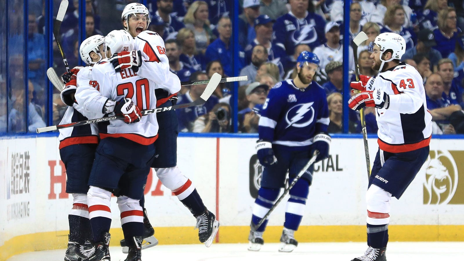 The Capitals Rained Fire On The Lightning Tampa Bay Lightning Logo