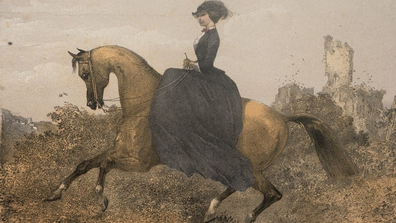 Illustration for article titled Hot New Trend: Sidesaddle Horseback Riding