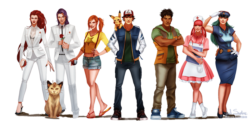Pokémon Characters, All Grown Up