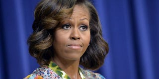 Michelle Obama speaks before a screening of Whitney Young documentary. (Jewel Samad/AFP/Getty Images)