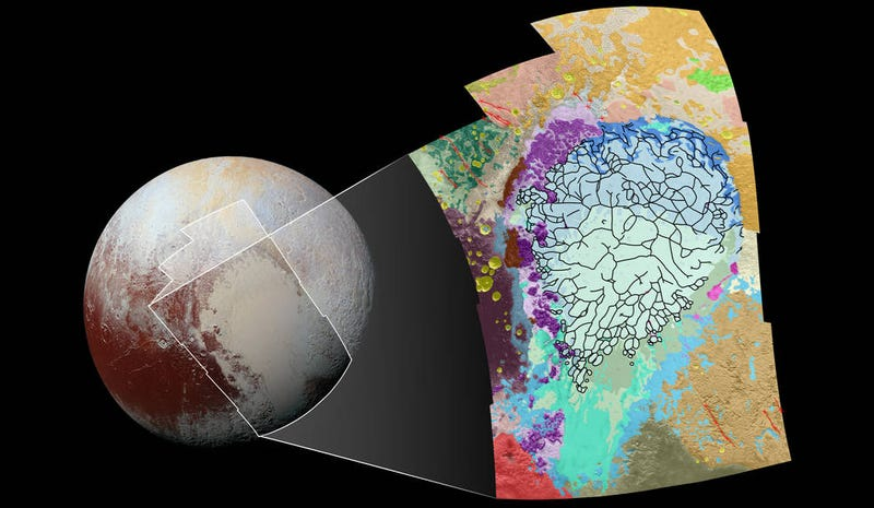 Illustration for article titled This Geologic Map of Pluto Is Just Incredible