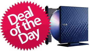 Illustration for article titled Asus Blu-Ray Reader/DVD Burner is Your Portable Deal of the Day
