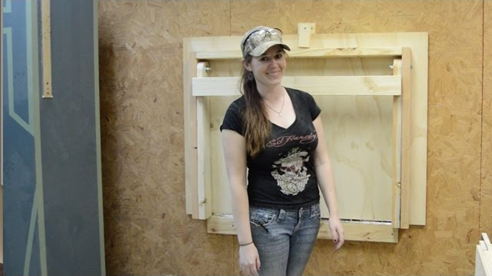 Build A Diy Fold Down Workbench To Save Floorspace In Your