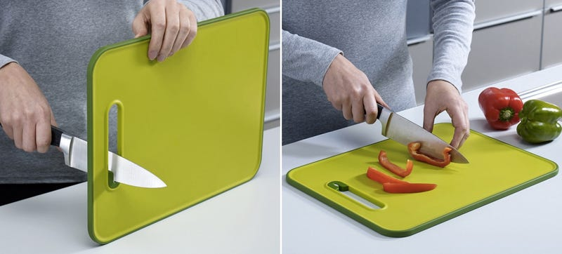 Illustration for article titled A Cutting Board Blade Sharpener Ensures Your Knives Are Ready To Slice