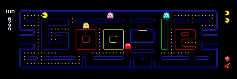 Illustration for article titled The New Google Doodle Is a FREAKING GAME OF PAC-MAN