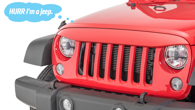 Illustration for article titled These Grilles Make Your Jeep Look Stupid, Not Tough