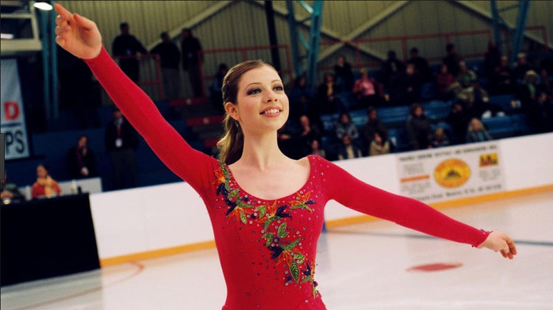 Michelle Trachtenberg in the Disney movie Ice Princess. She's not in Vestige but just imagine there were robots in this image. Image: Disney