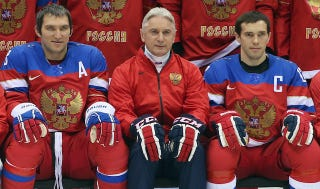 Illustration for article titled The Russian Olympic Hockey Coach's Postgame Presser Was Gold