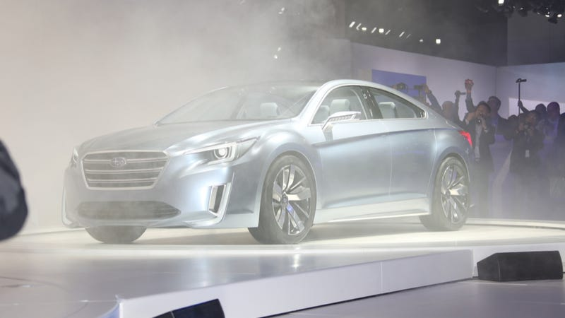Illustration for article titled Subaru Legacy Concept Predicts What The Next Legacy Won't Look Like