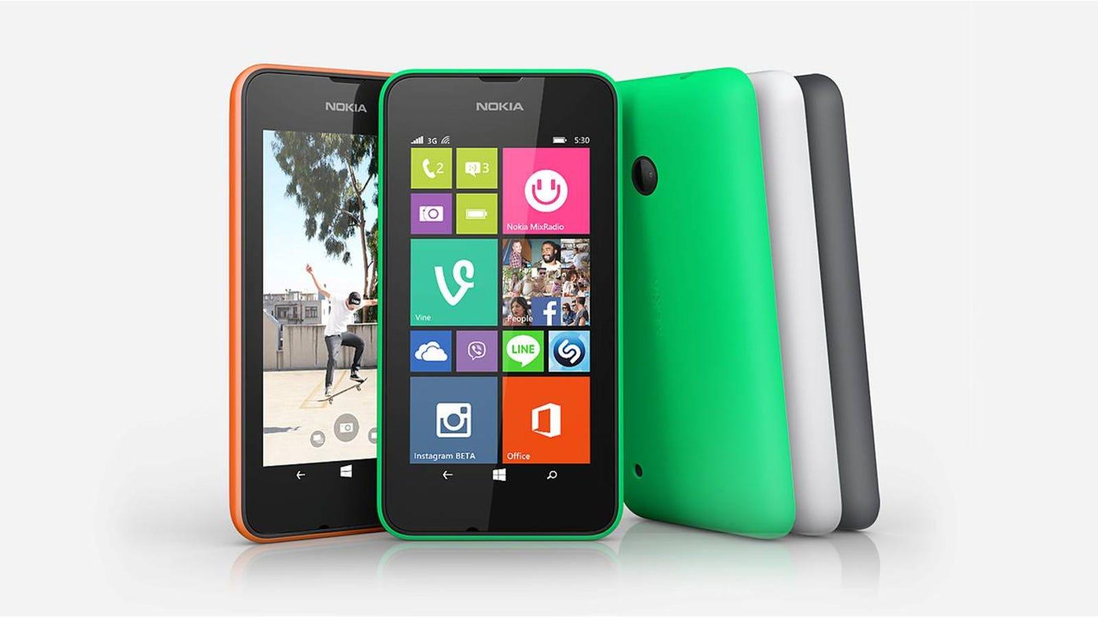 El Lumia más barato de Microsoft es el nuevo 530: €85/$114