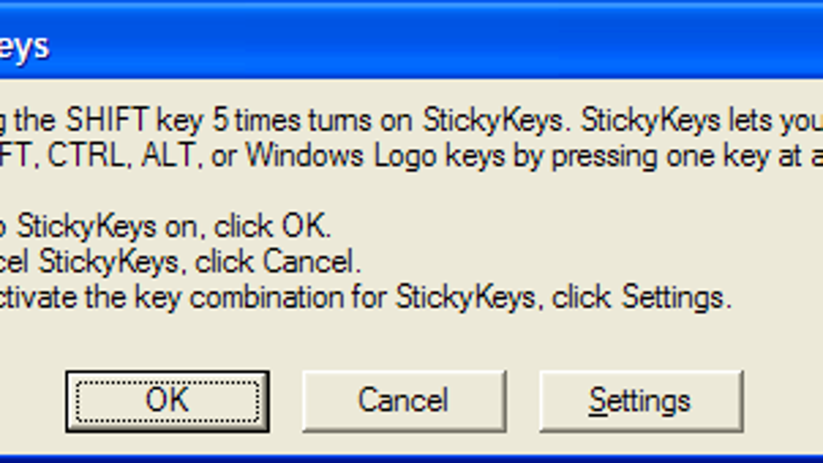 what is a sticky key