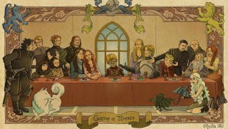 Illustration for article titled Tyrion plays Jesus in the Game of Thrones Last Supper