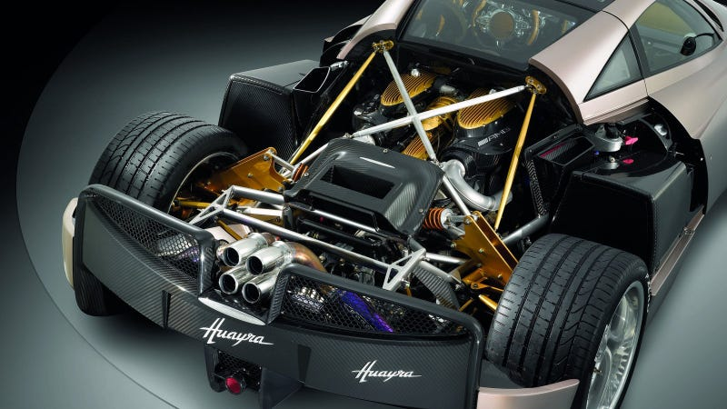 The V12 in question. Photo Credit: Pagani