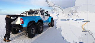 Illustration for article titled This 6x6 Hilux Is The Truck You Need To Drive To The South Pole
