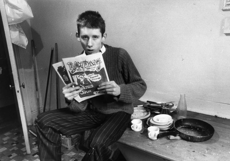 Shane MacGowan of The Pogues as a younger chap. (Photo: Sydney O'Meara/Getty Images)