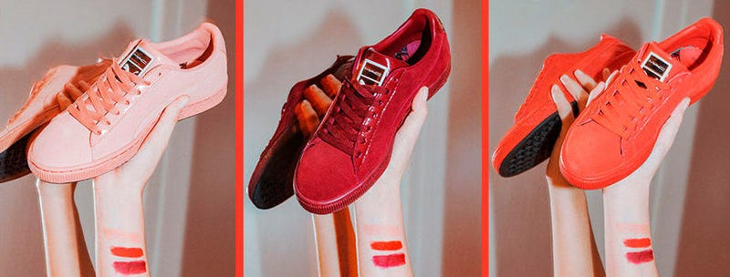 Illustration for article titled PUMA Lets You Match Your Lips to Your Sneakers Thanks To This Collaboration With MAC