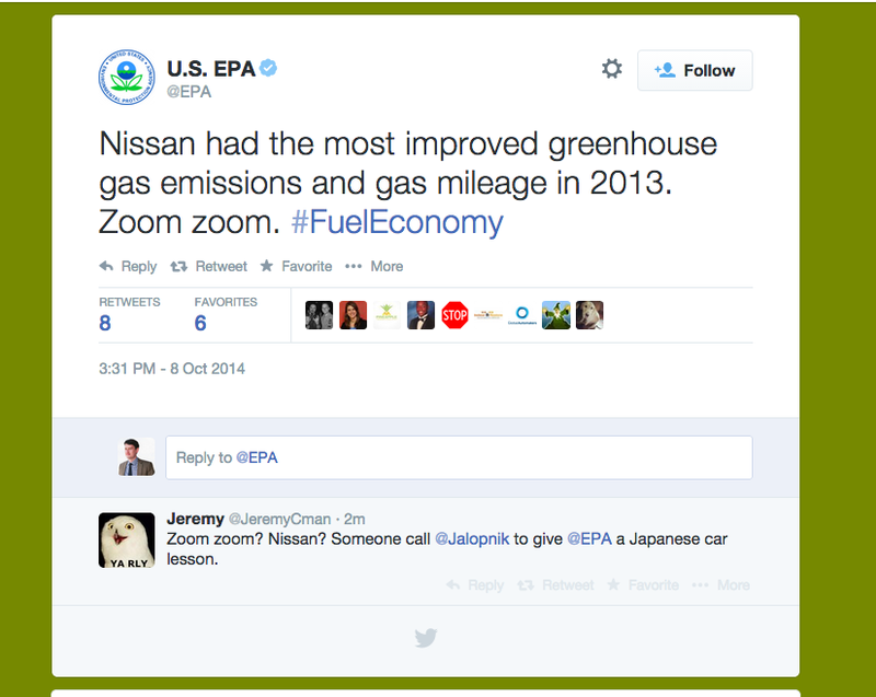 Illustration for article titled Good Job, Good Effort EPA Twitter Account