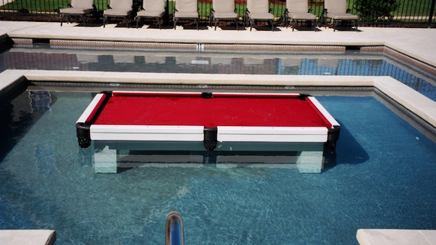 Live Out Your Drug Kingpin Fantasies With A Billiards Table In A Pool