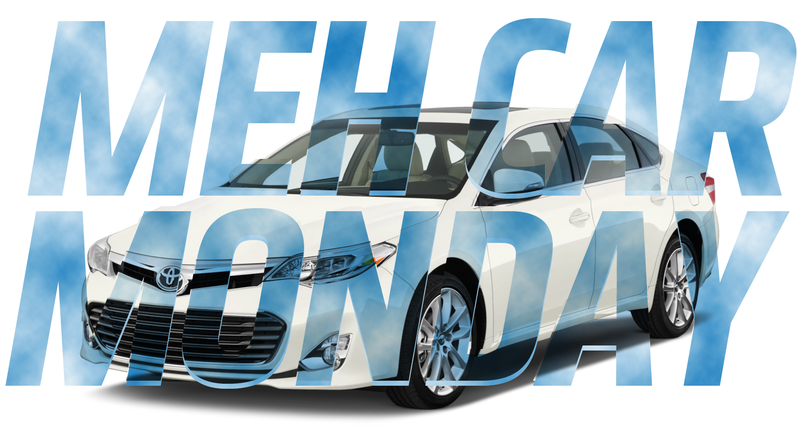 Meh Car Monday Behold The Tranquil Void Of The Toyota Avalon - Car sign with namescould always name any car just by looking at it i could never
