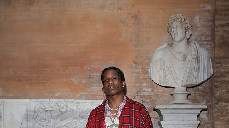 Rakim Mayers, aka A$AP Rocky, arrives at the Gucci Cruise 2020 on May 28, 2019 in Rome, Italy.