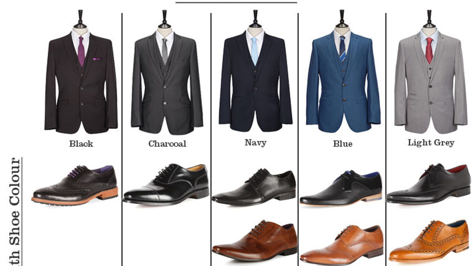 Match Your Suit And Shoes Perfectly With This Cheat Sheet