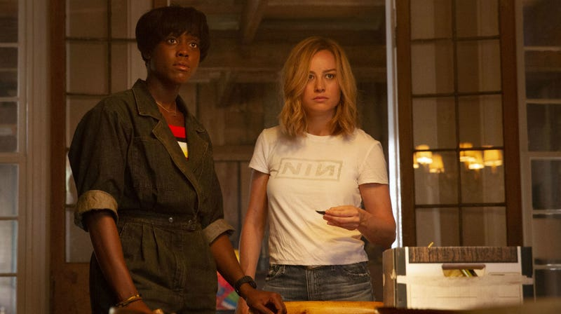 Maria and Carol are surprised about something in Captain Marvel.