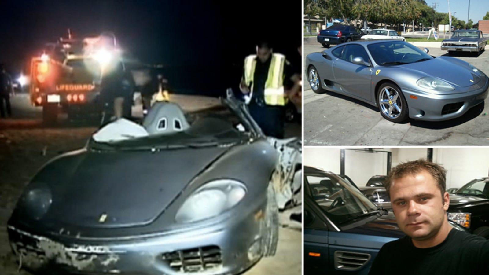 was driver in fatal pch ferrari crash joyriding in a customer 39 s car. Black Bedroom Furniture Sets. Home Design Ideas