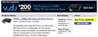 Illustration for article titled Dealzmodo: Buy Vudu at Best Buy, Get $200 In Free Movies