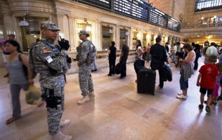 Tight security at NYC's Grand Central Station in Sept. 2011 (DON EMMERT/AFP/Getty)