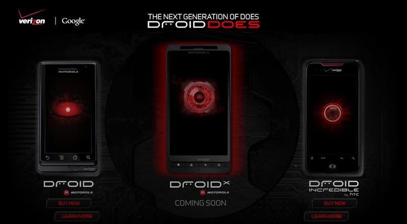 Illustration for article titled Verizon's Droid X Site Is Live