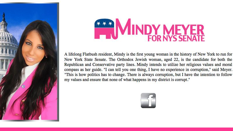 Illustration for article titled 22-Year-Old Hopeful Senator Slash Diva Hopes to Gain Media Attention Via Blingee