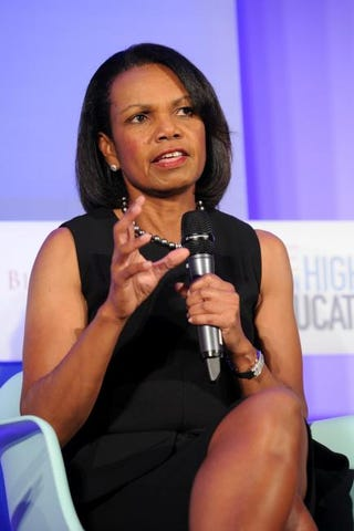 Condoleezza Rice at the Time Summit on Higher Education Day 1 in New York City Sept. 19, 2013 Bryan Bedder/Getty Images for Time