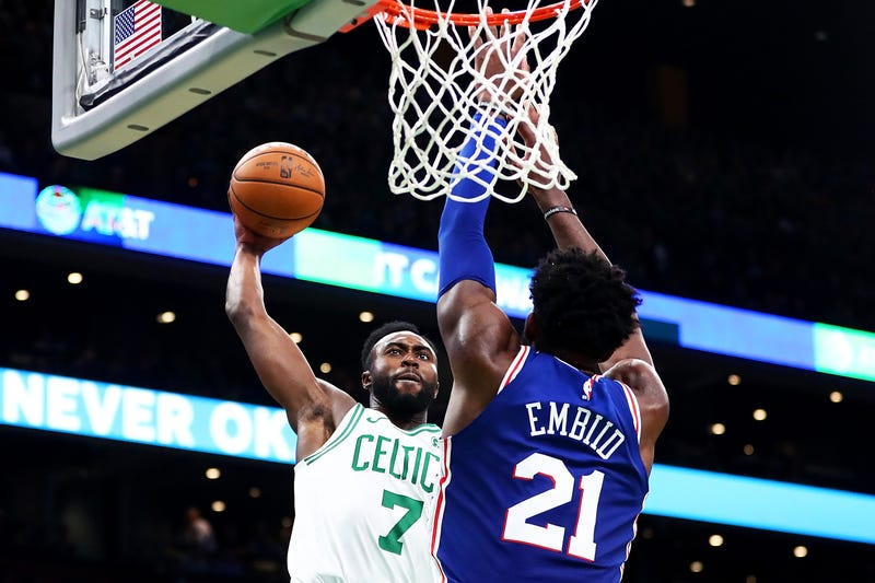 Illustration for article titled Whatever The Hell Jaylen Brown Did To Joel Embiid Here, It Ruled