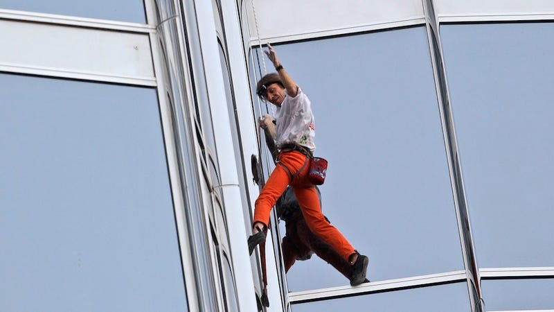 Illustration for article titled French Spider-Man Climbs World's Tallest Building