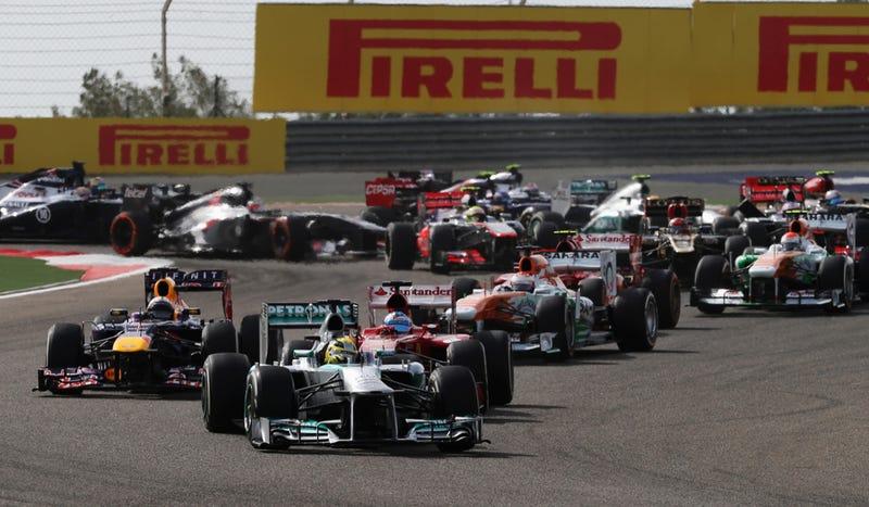 Illustration for article titled Sebastian Vettel Doesn't Need Team Orders To Win Bahrain Grand Prix