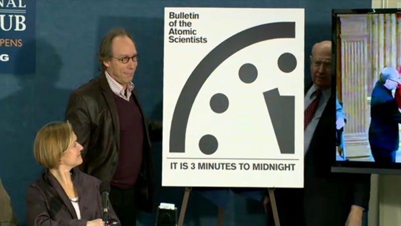 Illustration for article titled Seguimos estando a tres minutos de la destrucción total según el Reloj del Apocalipsis