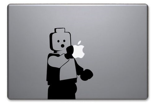 Illustration for article titled Lego Minifig Macbook Decal: Too Cute to Let Go