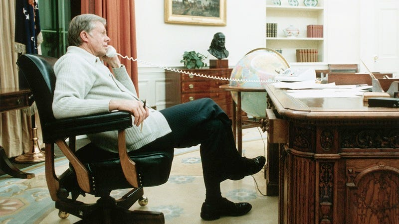Jimmy Carter in the White House.