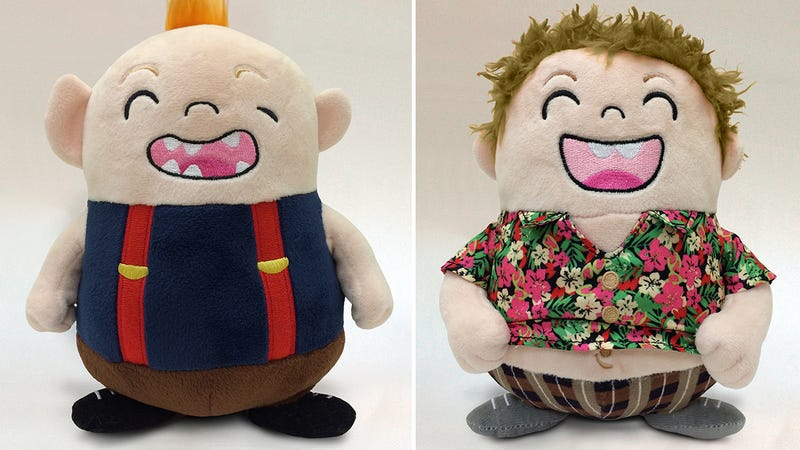 Illustration for article titled The Goonies' Sloth and Chunk Make For an Adorable Pair of Plush Toys
