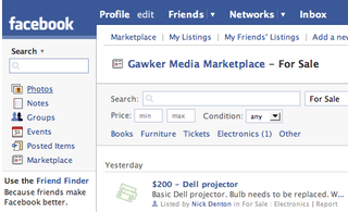 Illustration for article titled Facebook offers free classifieds