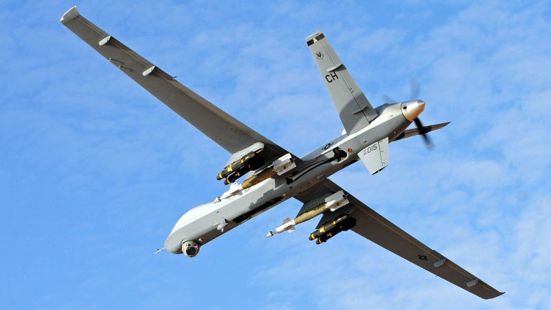 The General Atomics MQ 9 Reaper Is Our Militarys Premiere Hunter Killer Platform Sniping At Targets From 50000 Feet In Sky Except Instead Of Bullets