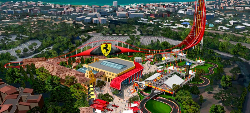 Illustration for article titled A Gigantic Ferrari Amusement Park Is Coming To Spain