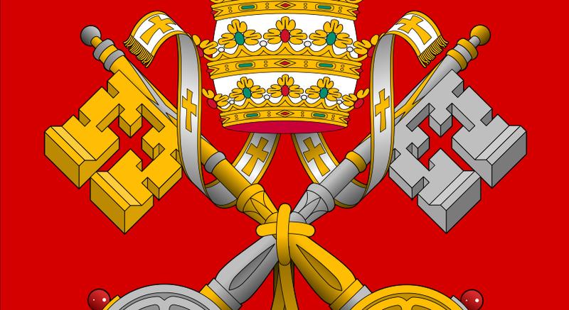 Illustration for article titled Qué significan las dos llaves, una de oro y otra de plata, en el escudo del Vaticano, y a dónde llevan supuestamente