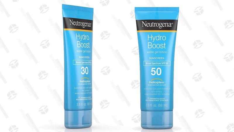 Neutrogena Hydro Boost SPF 50 Water Gel Sunscreen (Three-Pack)   $26   AmazonNeutrogena Hydro Boost SPF 30 Water Gel Sunscreen (Three-Pack)   $16   Amazon