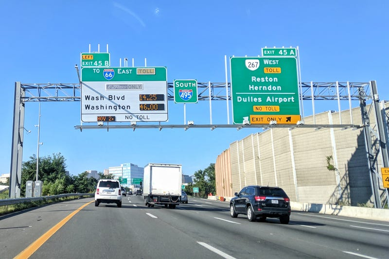 Illustration for article titled Back-to-school traffic means crazy high dynamic toll prices on I-66 E from VA to DC