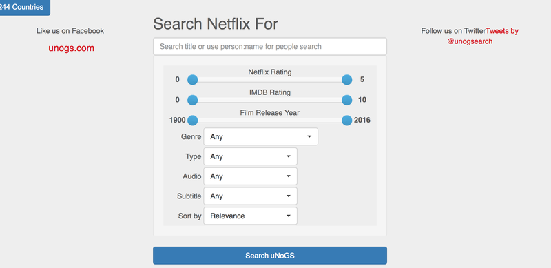 This Site Lets You Search The Worldwide Netflix Library - The full netflix library could soon be available to everyone