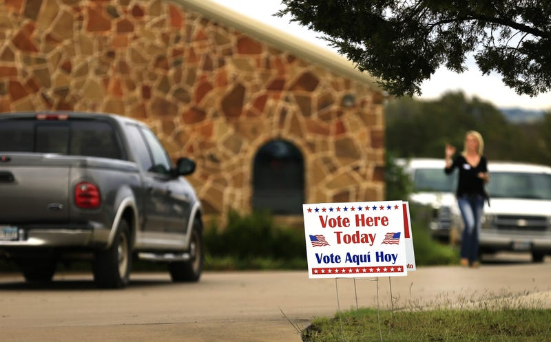 A polling place in Brock, Texas (Ron Jenkins/Getty Images)