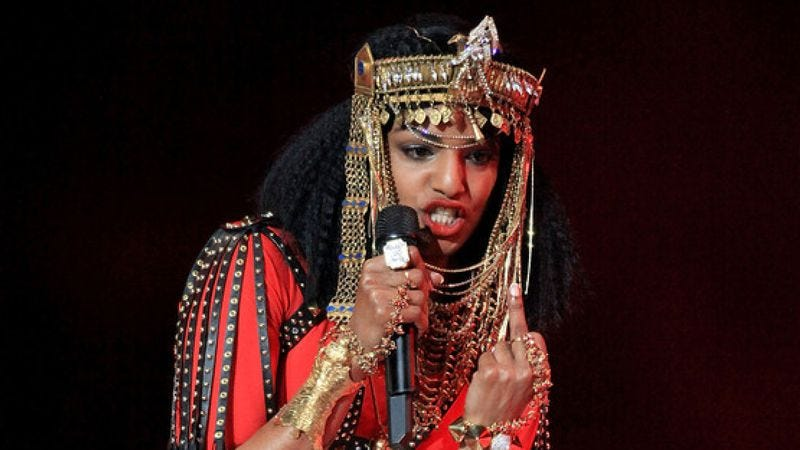 Illustration for article titled Now the NFL wants $16.6 million from M.I.A. for her Super Bowl middle finger
