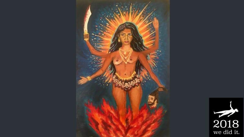Self-portrait as Kali