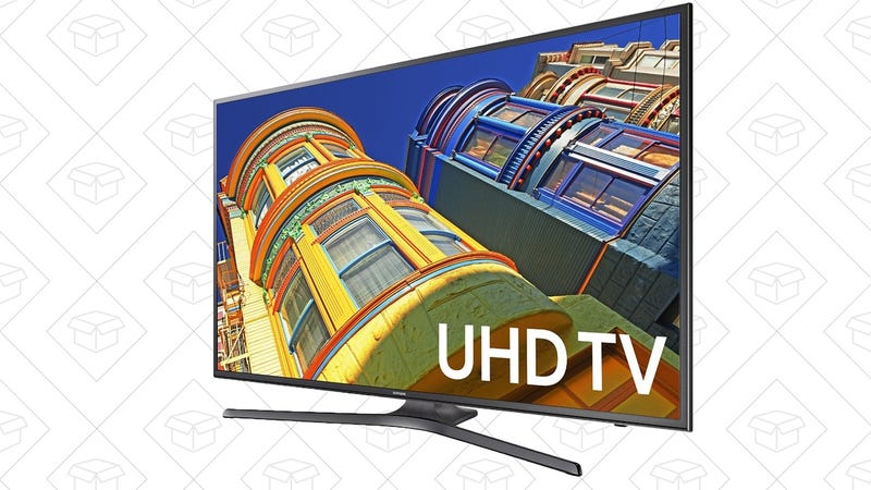 Samsung UN60KU6300 50-Inch 4K Ultra HD Smart LED TV, $590